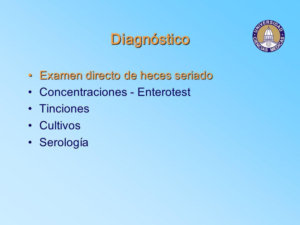 Diagnóstico Examen directo de heces seriado