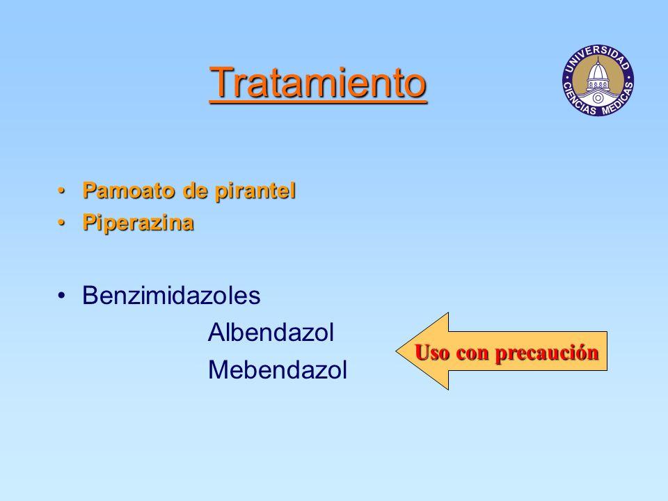 Tratamiento Benzimidazoles Albendazol Mebendazol Pamoato de pirantel