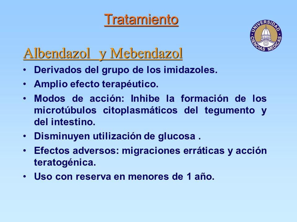 Albendazol y Mebendazol