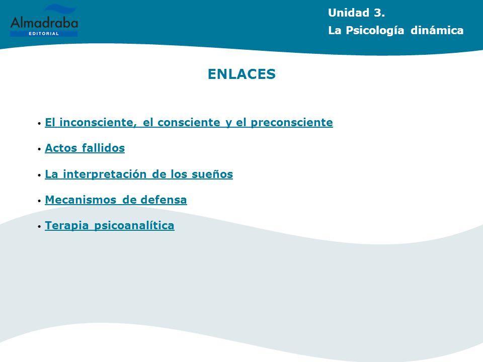 ENLACES Unidad 3. La Psicología dinámica