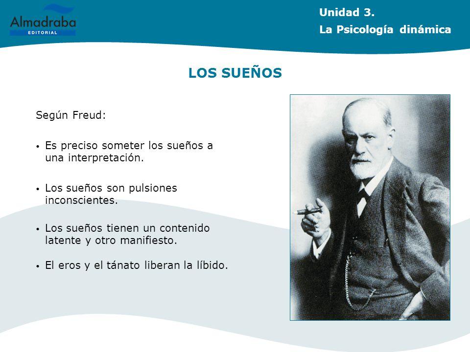 LOS SUEÑOS Unidad 3. La Psicología dinámica Según Freud: