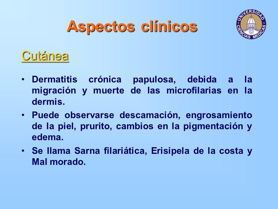Aspectos clínicos Cutánea