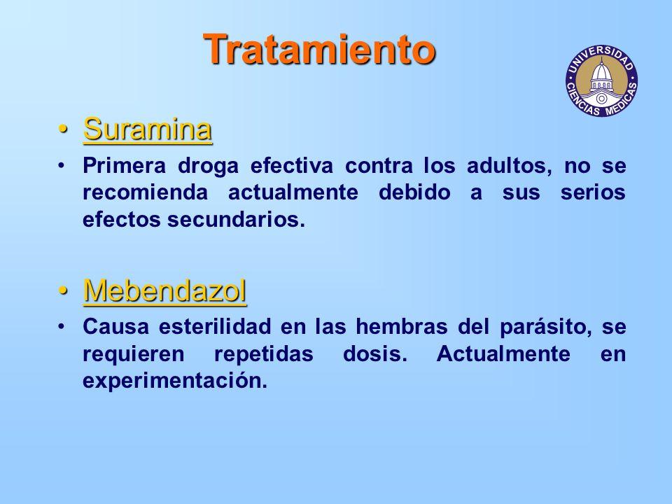 Tratamiento Suramina Mebendazol