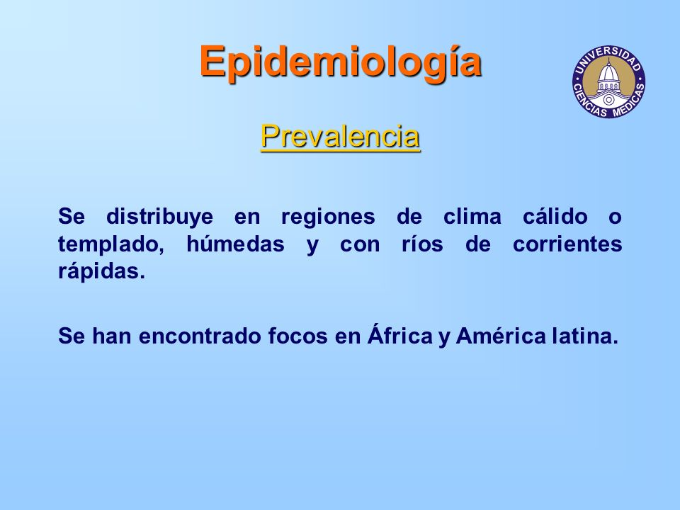 Epidemiología Prevalencia