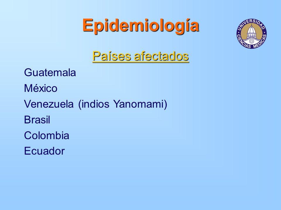 Epidemiología Países afectados Guatemala México