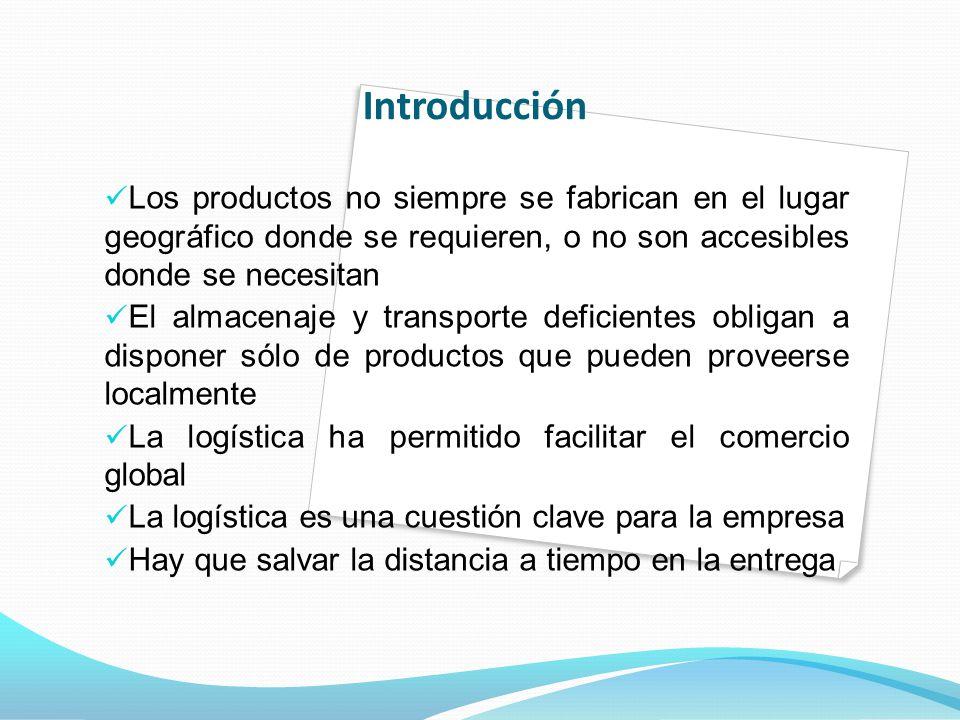 Introducción Los productos no siempre se fabrican en el lugar geográfico donde se requieren, o no son accesibles donde se necesitan.