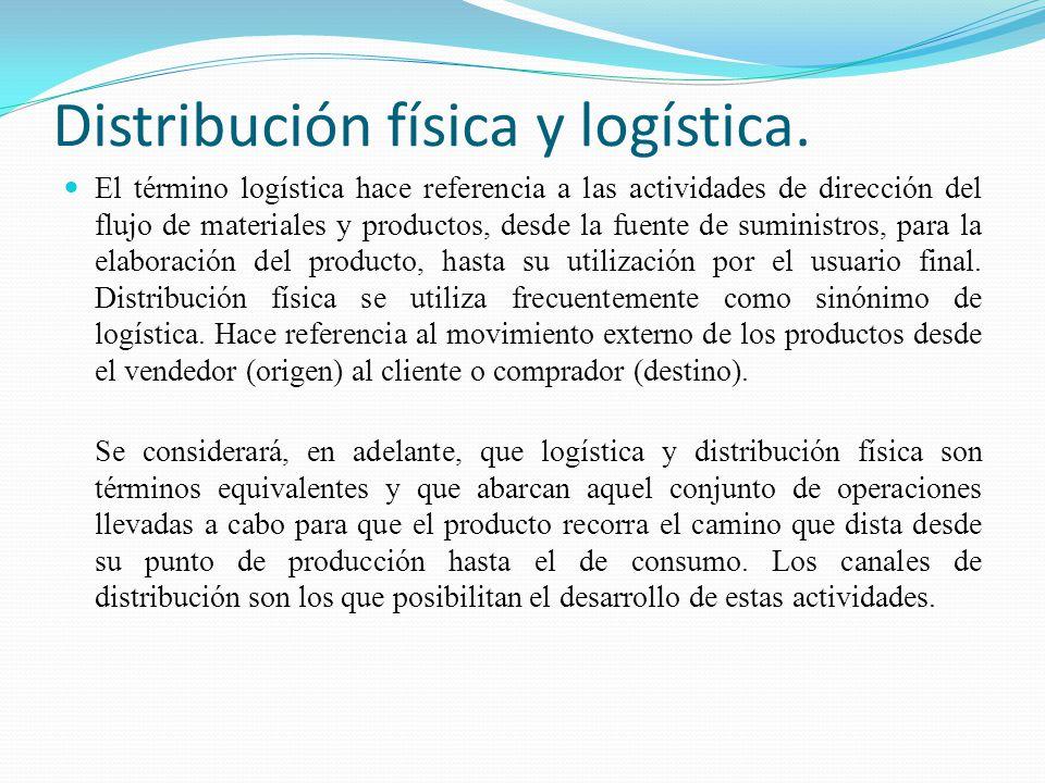 Distribución física y logística.