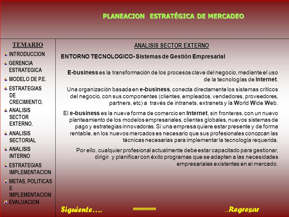 ANALISIS SECTOR EXTERNO