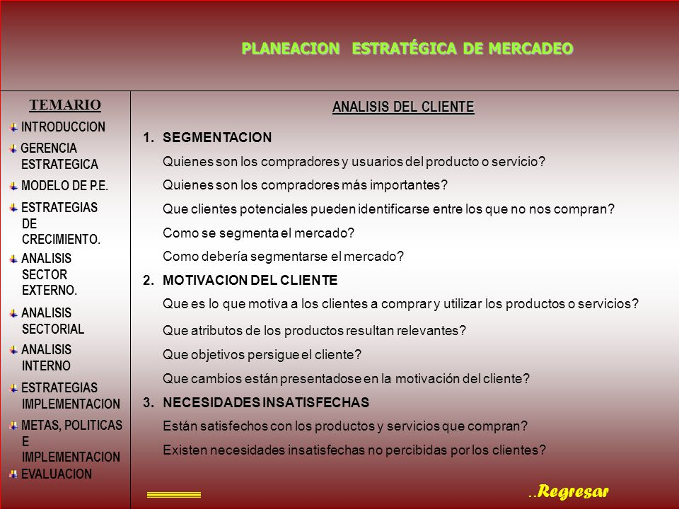 PLANEACION ESTRATÉGICA DE MERCADEO