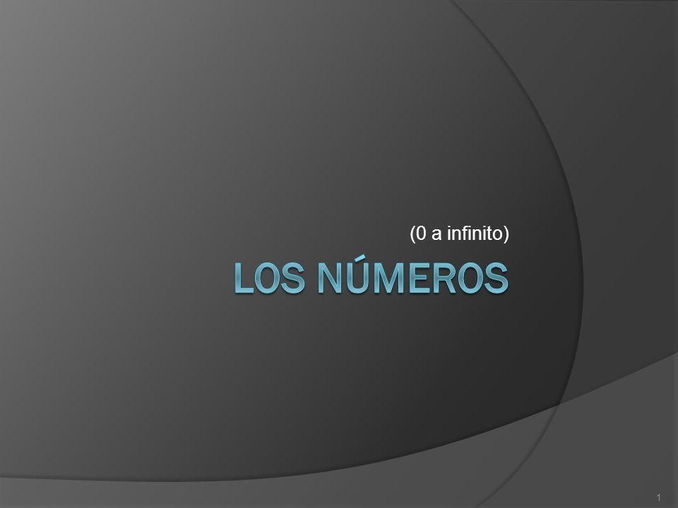 (0 a infinito) Los números