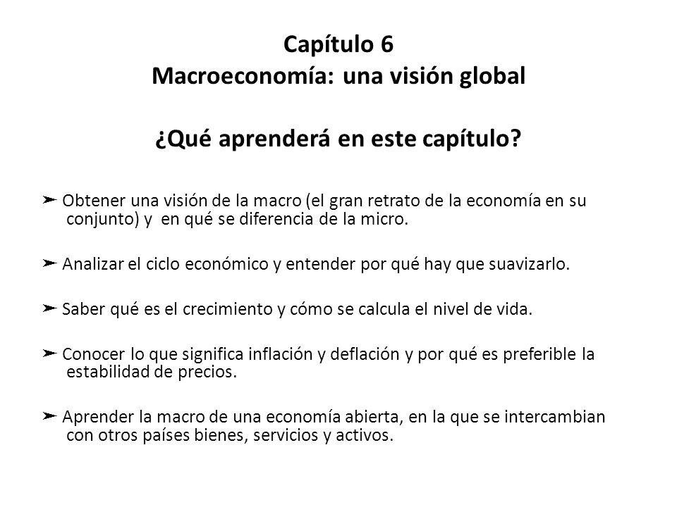 Capítulo 6 Macroeconomía: una visión global ¿Qué aprenderá en este capítulo