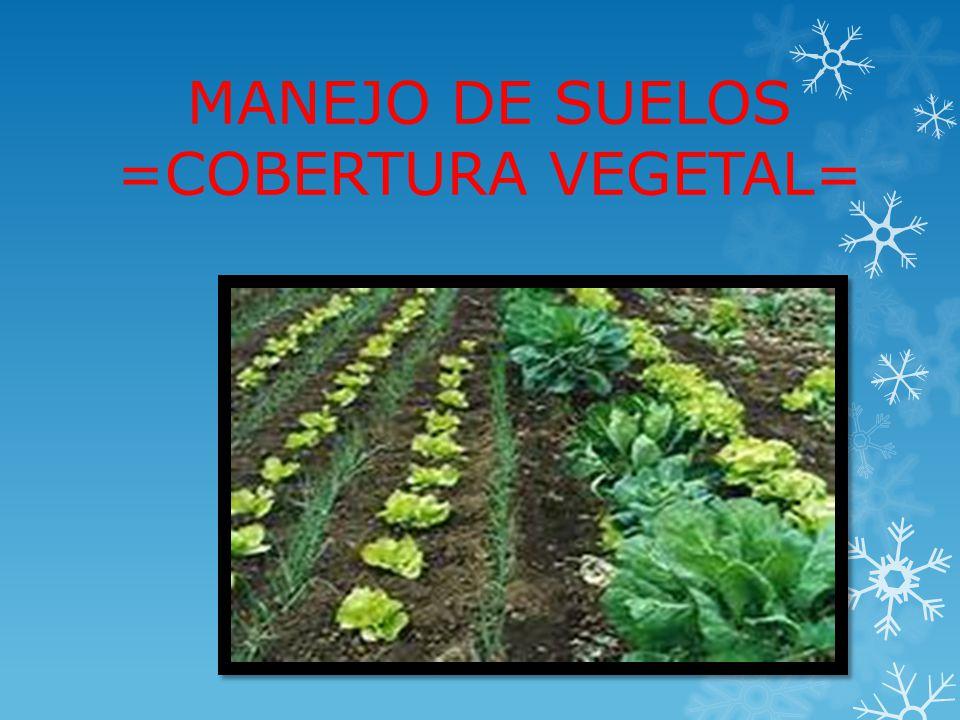 MANEJO DE SUELOS =COBERTURA VEGETAL=