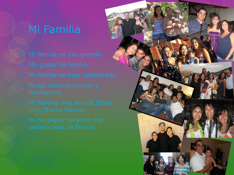 Mi Familia Mi familia es mui grande Me gusta los familia