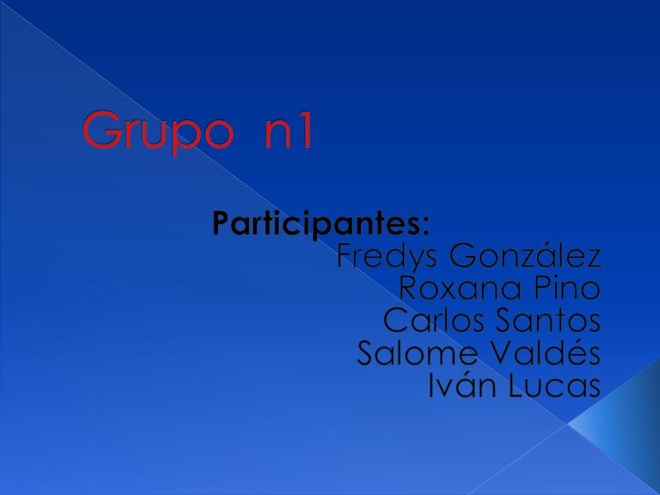 Grupo n1 Participantes: Fredys González Roxana Pino Carlos Santos