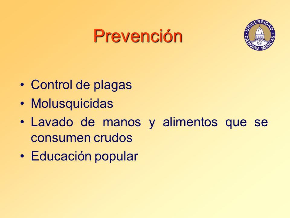 Prevención Control de plagas Molusquicidas