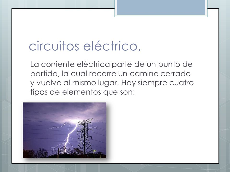 circuitos eléctrico.