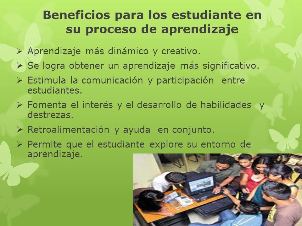 Beneficios para los estudiante en su proceso de aprendizaje