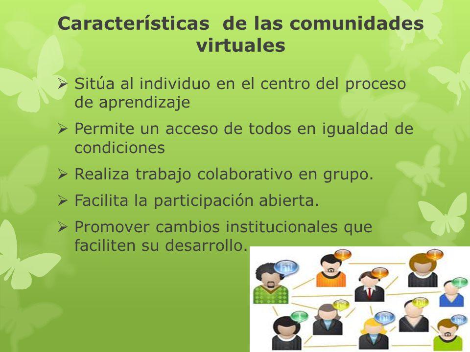 Características de las comunidades virtuales