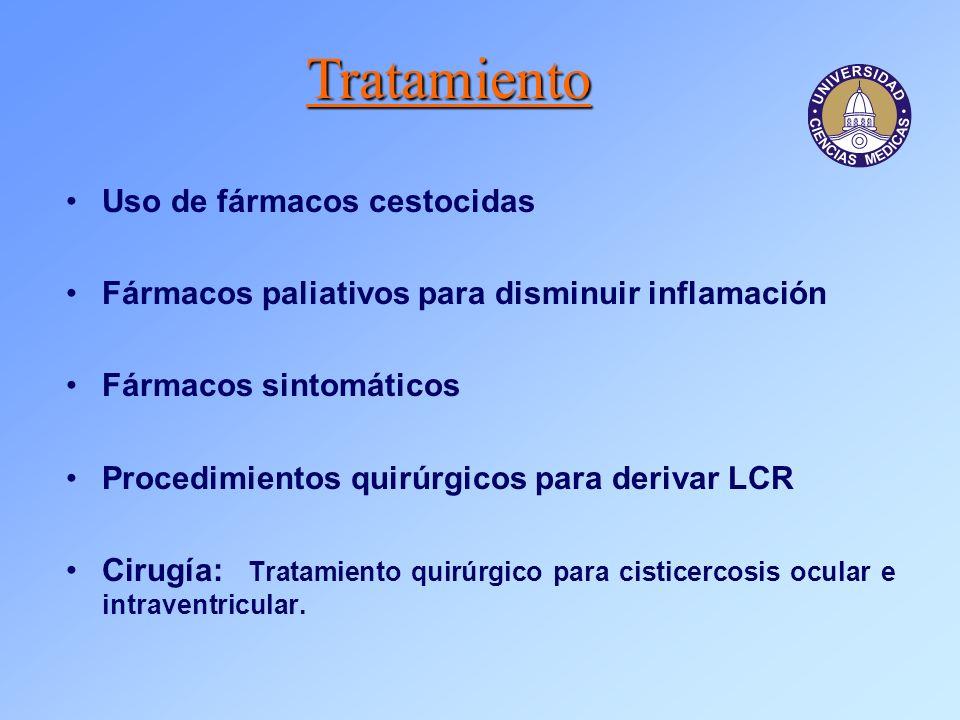 Tratamiento Uso de fármacos cestocidas