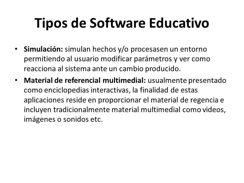 Tipos de Software Educativo