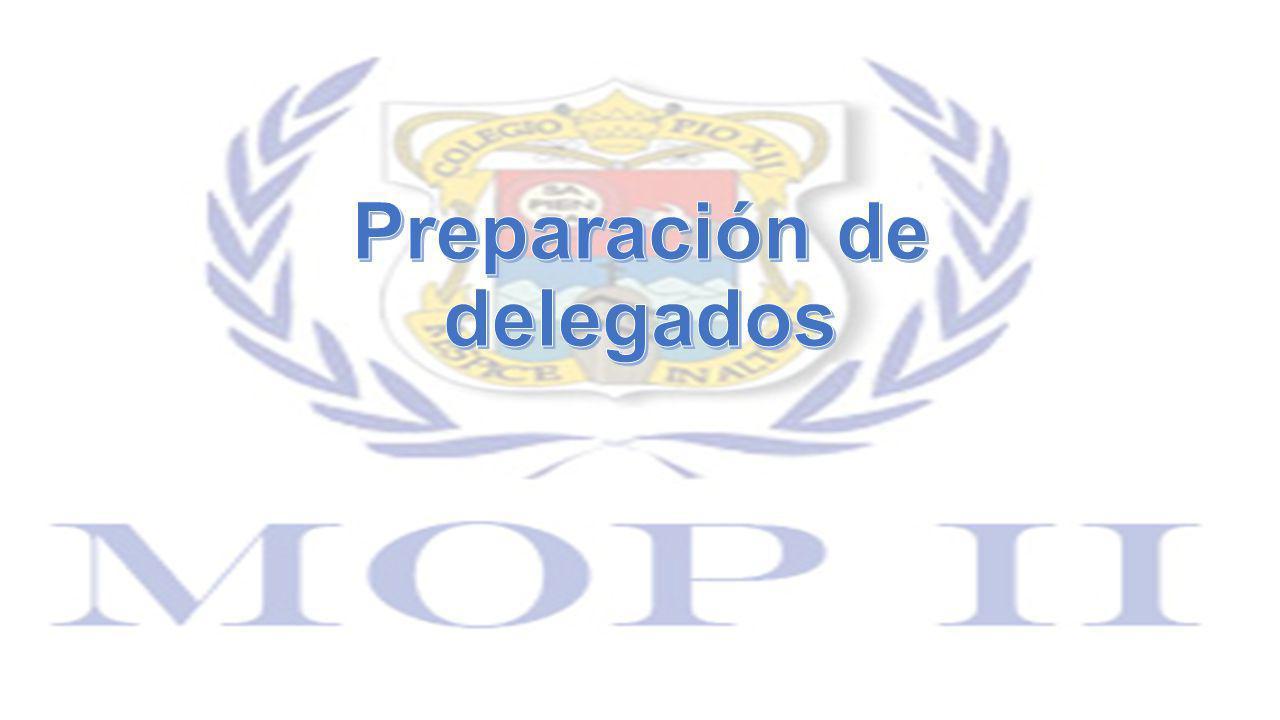 Preparación de delegados