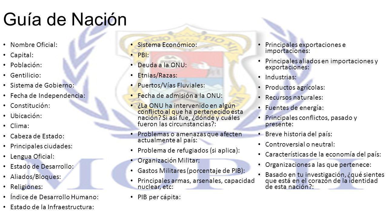 Guía de Nación Nombre Oficial: Sistema Económico:
