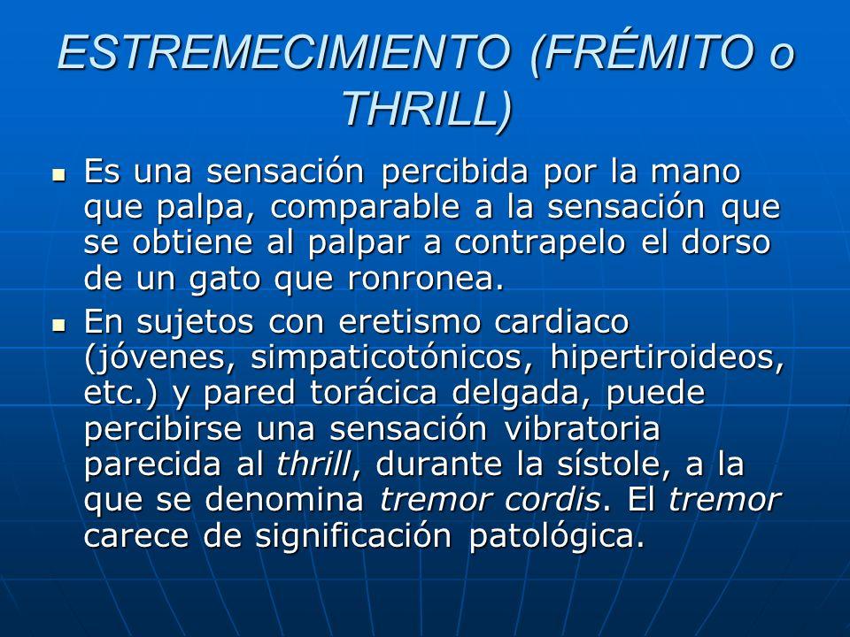 ESTREMECIMIENTO (FRÉMITO o THRILL)