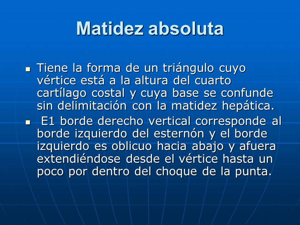 Matidez absoluta