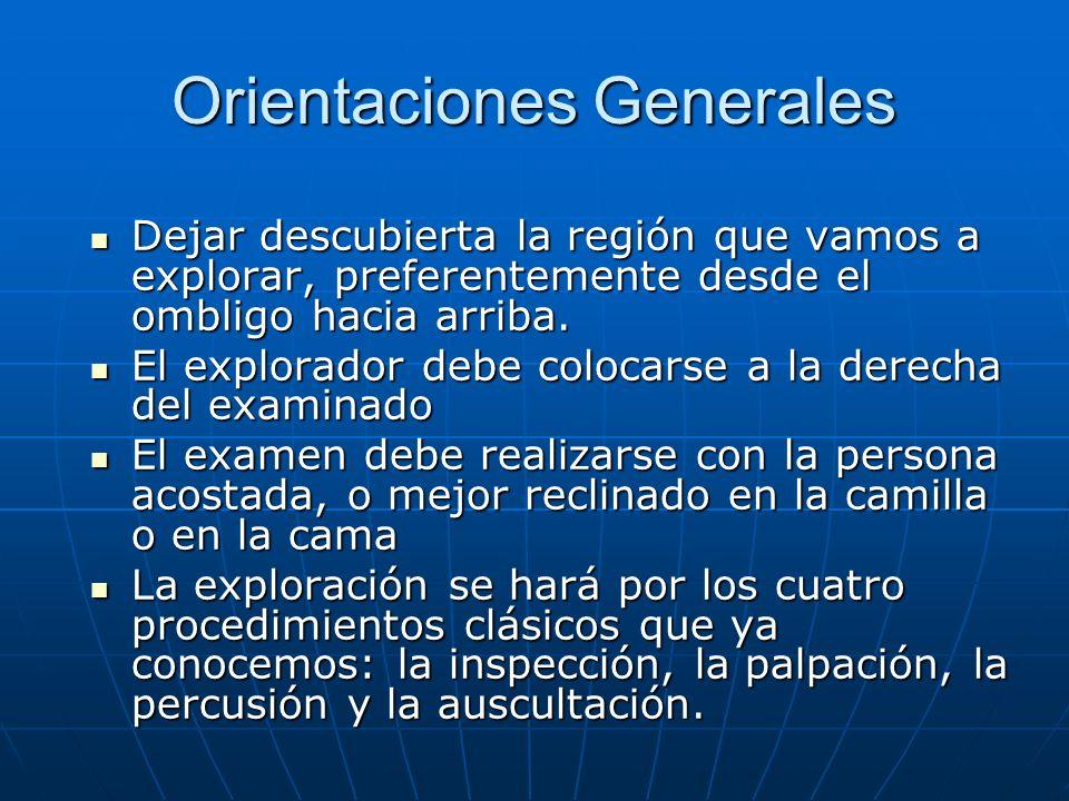 Orientaciones Generales