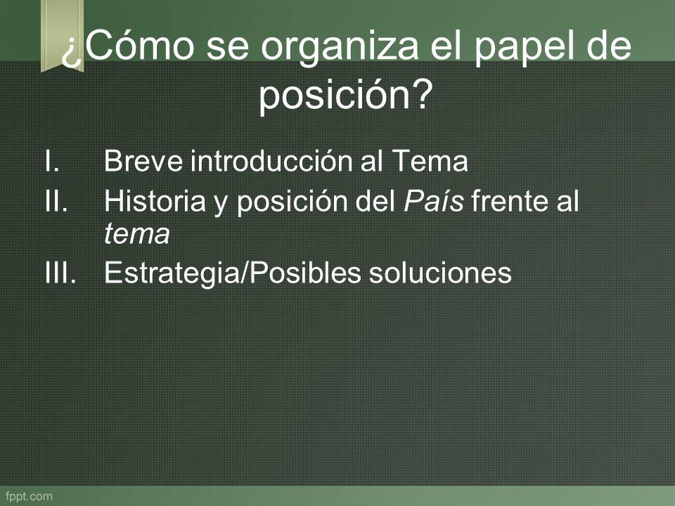 ¿Cómo se organiza el papel de posición