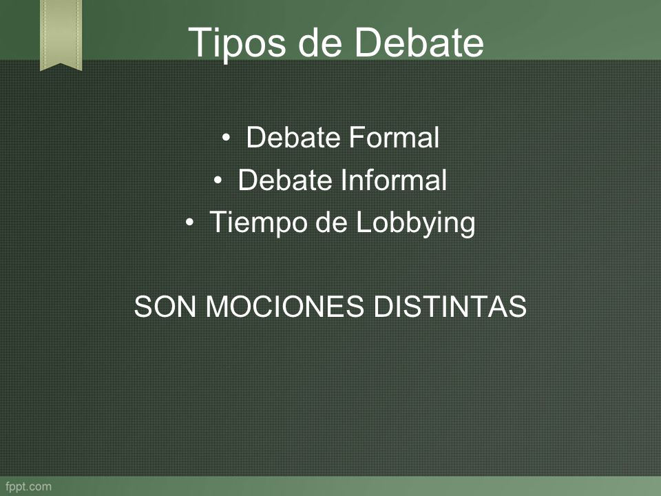 SON MOCIONES DISTINTAS