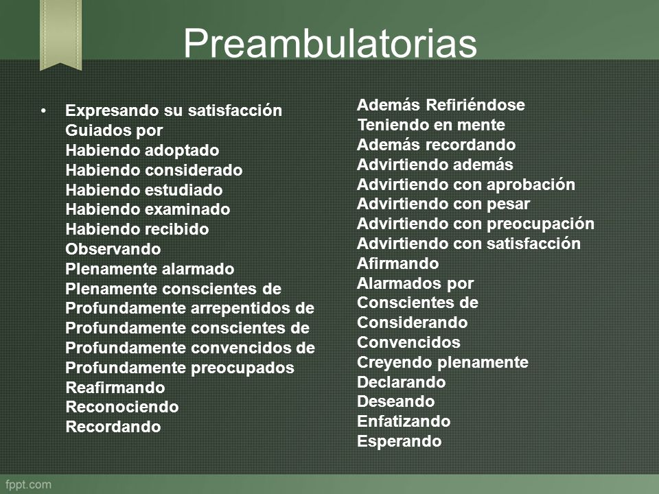 Preambulatorias