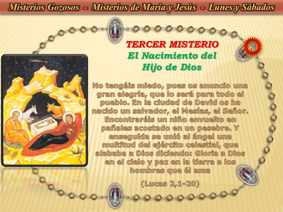 Misterios Gozosos - Misterios de María y Jesús - Lunes y Sábados