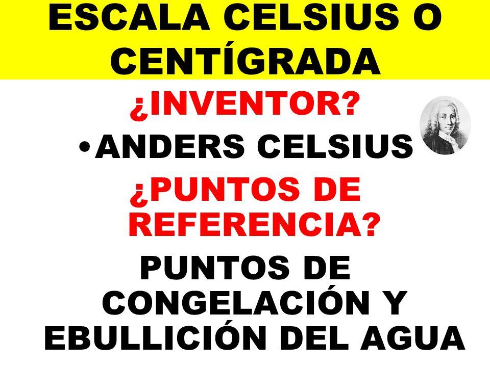 ESCALA CELSIUS O CENTÍGRADA
