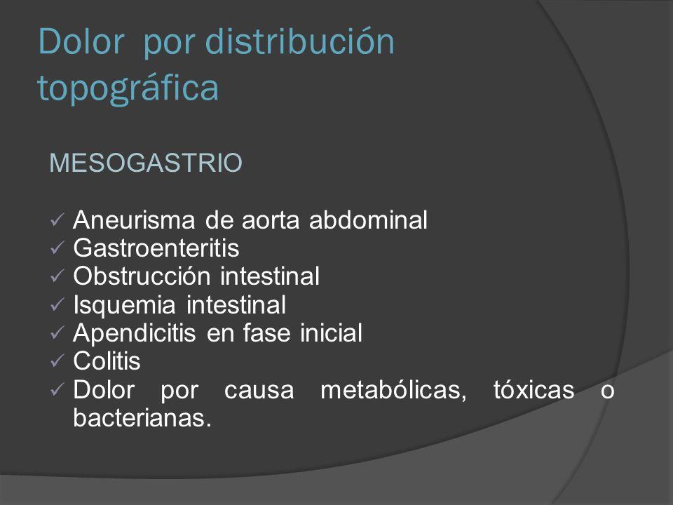 Dolor por distribución topográfica