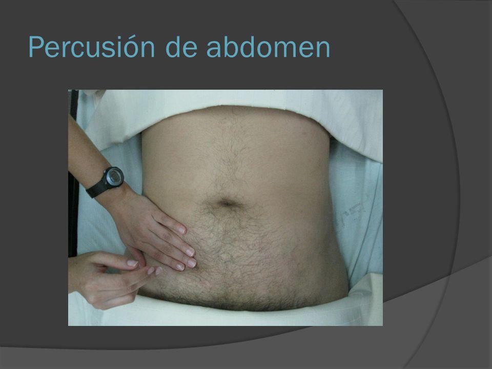 Percusión de abdomen