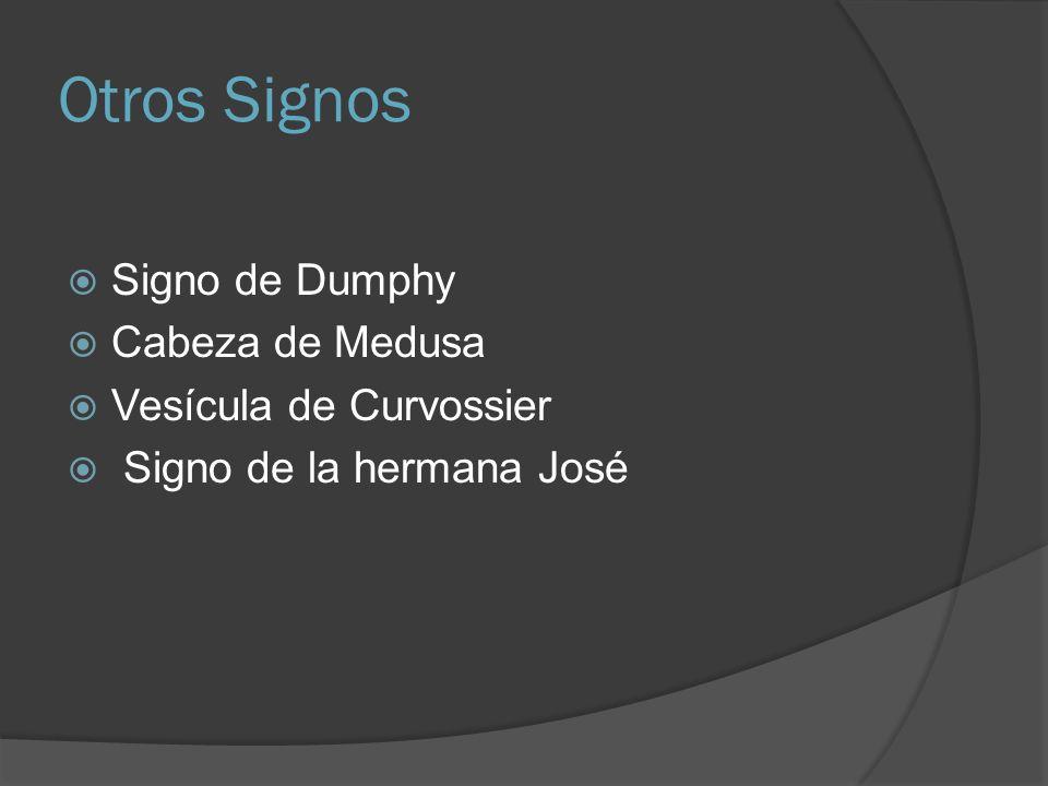 Otros Signos Signo de Dumphy Cabeza de Medusa Vesícula de Curvossier