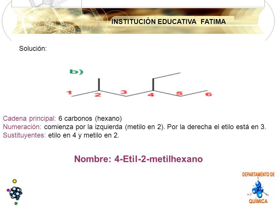 Nombre: 4-Etil-2-metilhexano