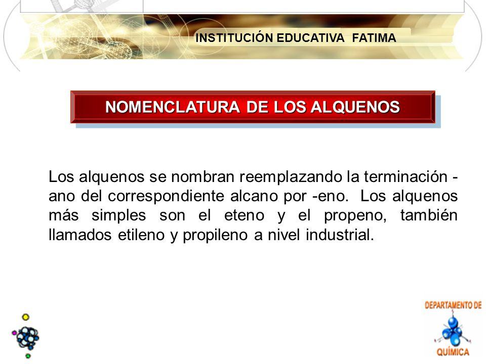 NOMENCLATURA DE LOS ALQUENOS