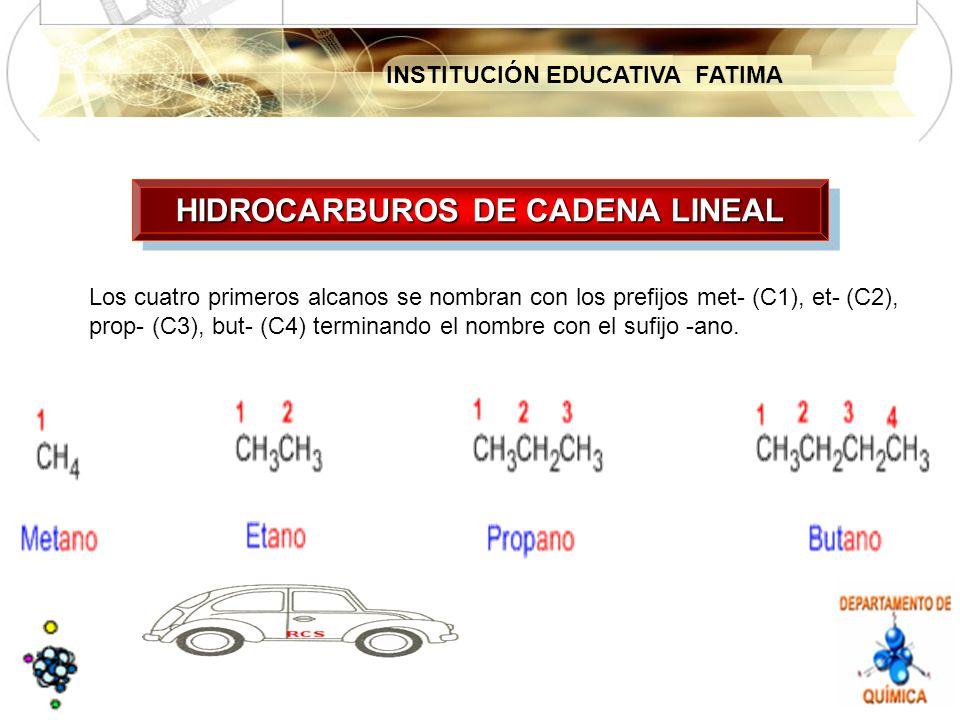 HIDROCARBUROS DE CADENA LINEAL