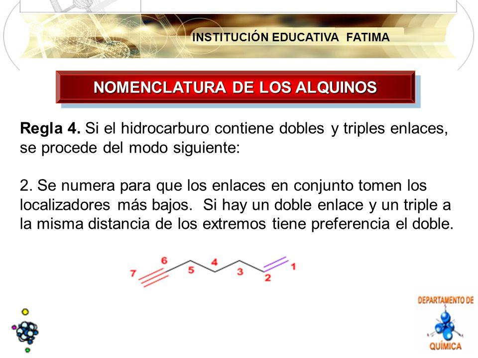 NOMENCLATURA DE LOS ALQUINOS