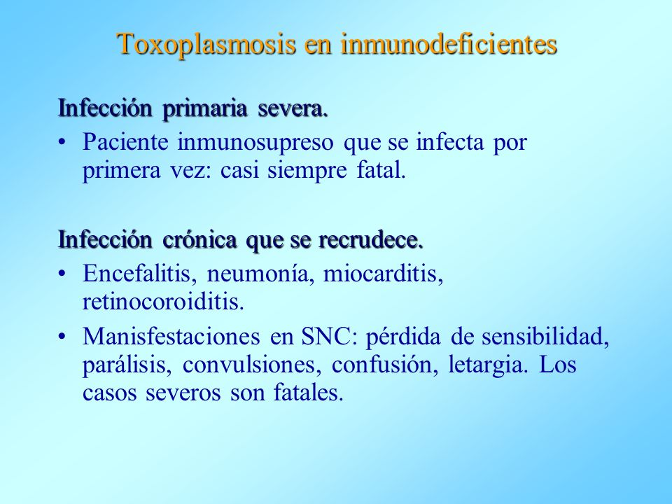 Toxoplasmosis en inmunodeficientes