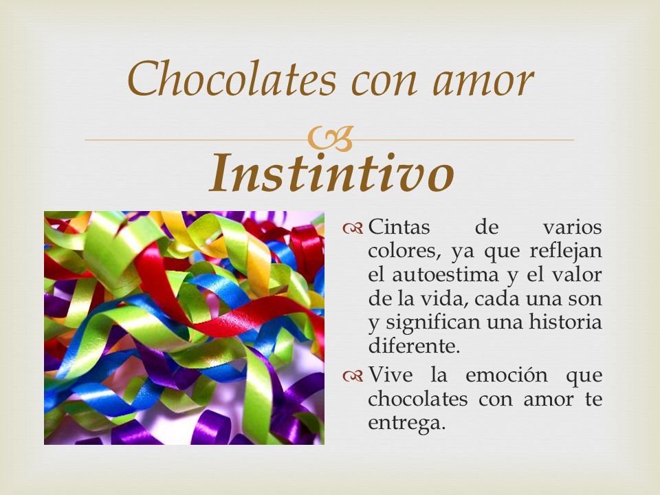 Instintivo Chocolates con amor