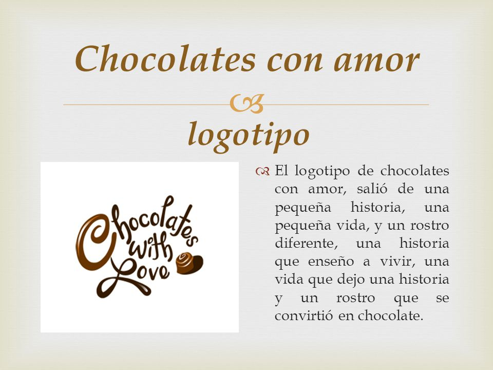 Chocolates con amor logotipo