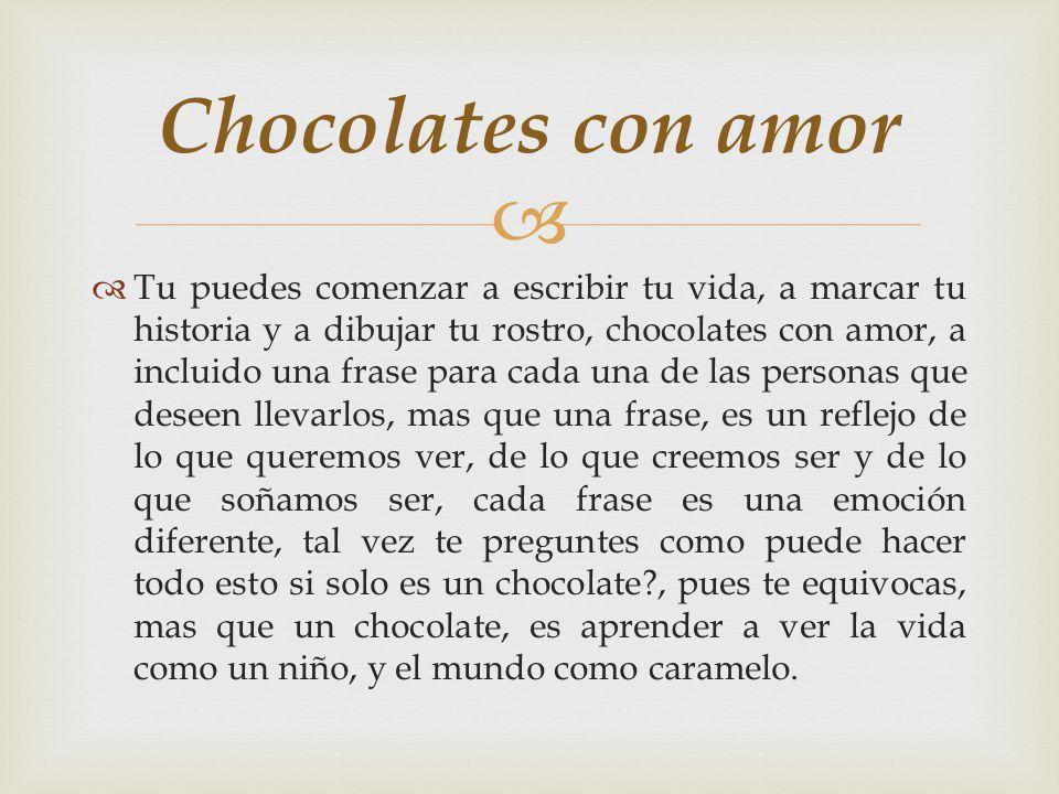 Chocolates con amor