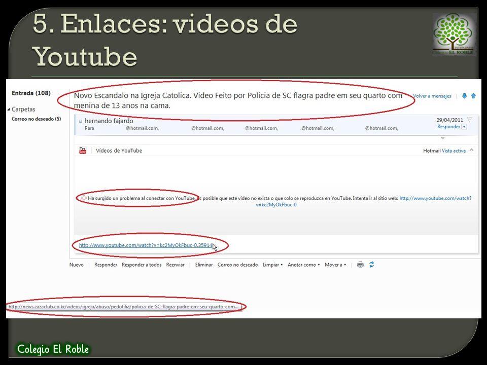 5. Enlaces: videos de Youtube