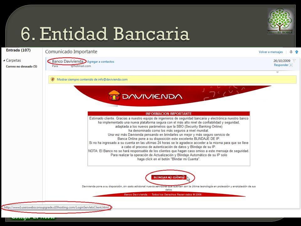 6. Entidad Bancaria