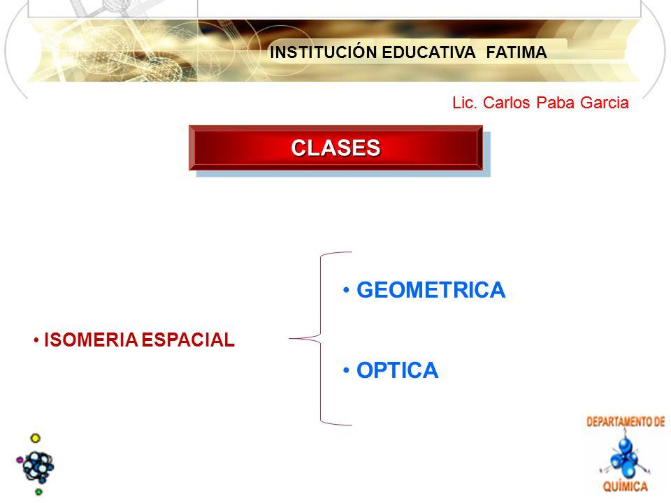 CLASES GEOMETRICA OPTICA ISOMERIA ESPACIAL