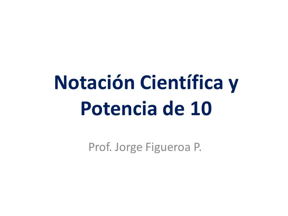 Notación Científica y Potencia de 10