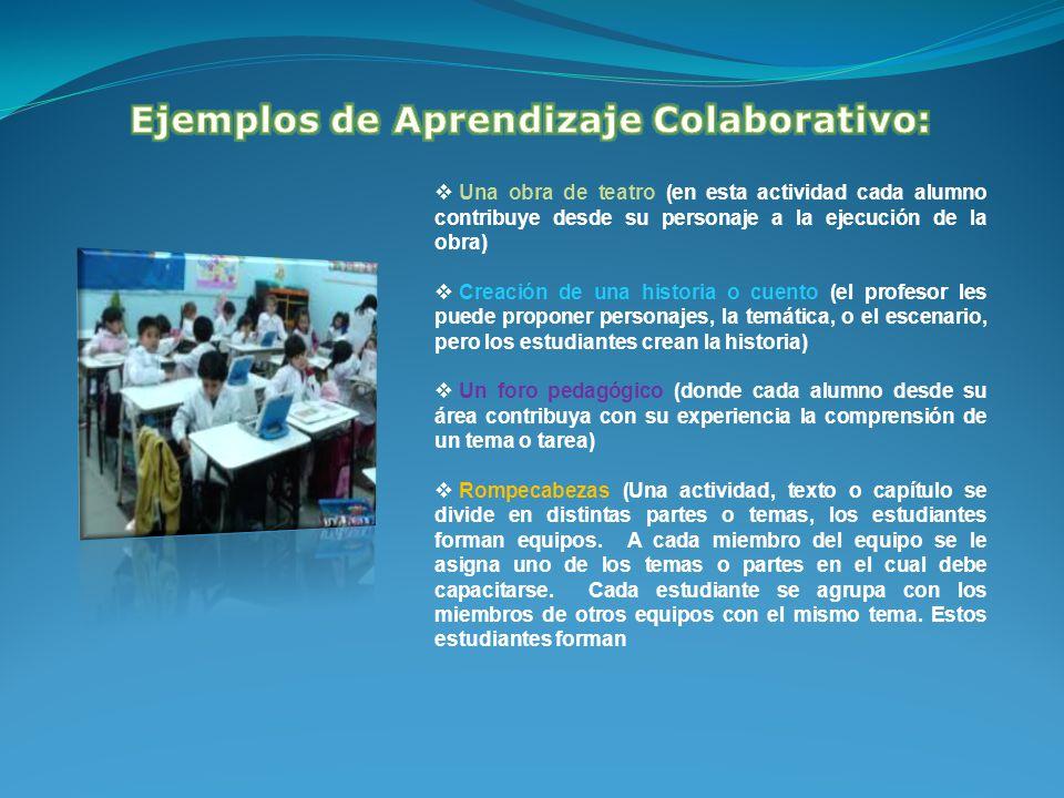 Ejemplos de Aprendizaje Colaborativo: